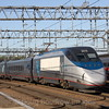 An Acela trainset departs New Haven for Boston, 8-29-10.