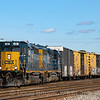 A CSX local heads out of the yard in Wilmington, DE, 10-4-19.