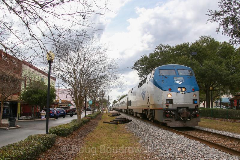 "Amtrak ""Silver Star"" at Plant City, 2-7-18"