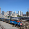 Metra departs Chicago on a busy Friday afternoon, 9-14-18.