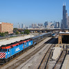 Metra departs Chicago on a busy Friday morning, 9-14-18.