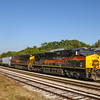 An Iowa Interstate ethanol train passes through New Lenox, 9-16-18.
