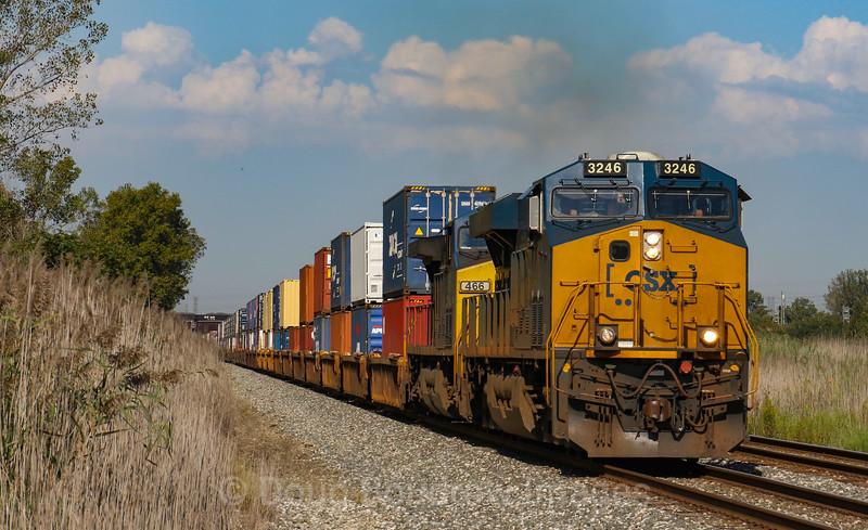 CSX Intermodal at Pine Junction in Gary, 9-17-18.