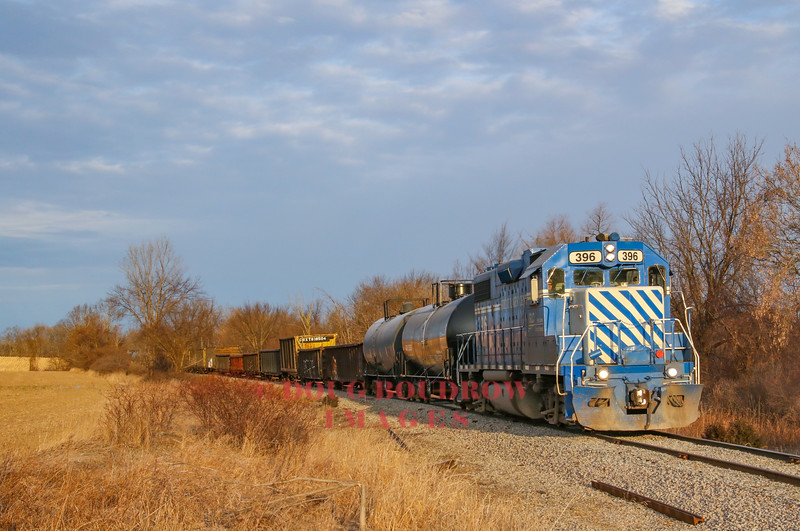 A Southbound freight passes through Durand headed for the CSX interchange in Howell, 1-11-19.