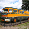 "Former Great Northern Railway Bus on display at Whitefish. The ""Bruck"" as it was nicknamed was built by Kenworth in 1951 to carry passengers and luggage as well as mail and freight back and forth to Kallaspel, where the railroad did not service, 9-24-19."