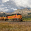 An Eastbound oil train reaches the summit of Marias Pass, 9-25-19.