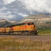 An Eastbound oil train near False Summit on Marias Pass, 9-25-19.