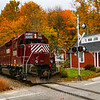 NHN Work Extra passing through Sanbornville, 10-15-18.