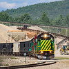 The New Hampshire Northcoast crew is getting ready to leave Ossipee Aggregates with thirty-two loads. They are about to pull twenty-five loads up the hill before coming back for seven more. The seven will go to Tri-City in Rochester while the twenty-five will go to Boston Sand & Gravel, 9-8-21.