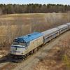 Amtrak Downeaster 682 at Madbury, 3-31-20.