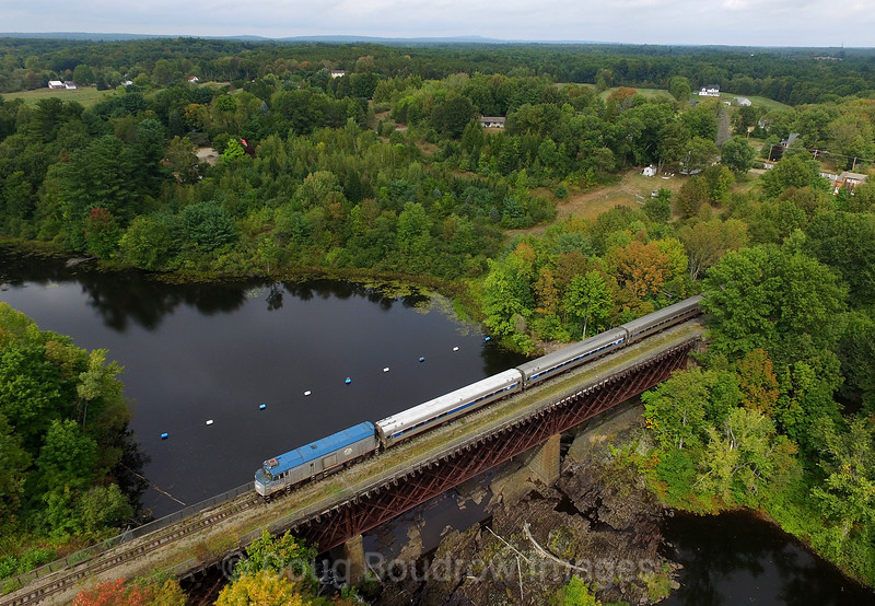 "Amtrak ""Downeaster"" at Rollinsford, 9-18-16."