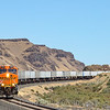 Priority BNSF train Z-LACPTL9 is seen coming off the Oregon Trunk line at Ceililo, 7-16-21.