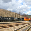 A Westbound intermodal heads through South Fork, 4-4-17.