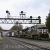 Eastbound manifest freight at Summerhill, 4-5-19.