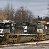 A pair of locomotives are tied down at the helper facility in Cresson,  4-5-17.