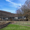 The Horseshoe Curve is located just outside Altoona in Logan Township. It was completed by the Pennsylvania Railroad in 1852. The curve is 2,375 feet long and 1,300 feet in diameter. Today it is part of Norfolk Southern's very busy Pittsburg Line, 4-5-17.