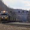 Eastbound coal drag at Lilly, 4-6-19.