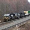 Westbound intermodal at Cassandra; 4-5-17