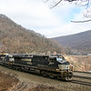 Westbound at Horseshoe Curve, 4-6-19.