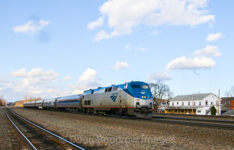"""The Westbound """"Pennsylvanian"""" passes Cresson, 4-4-17."""