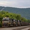 Loaded coal drag passing Lewistown, 8-31-20.