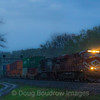 NS locomotive #8104, the Lehigh Valley heritage unit leads Eastbound intermodal train 20R up the West Slope through Lilly, 5-12-18.