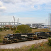 The Port of Charleston is a huge shipping hub located near the downtown portion of the city. A trio of NS Dash 9's is seen putting a train together to head North out of the port, 2-28-19.