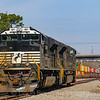 NS power sits tied down at the North end of Seven Mile Yard in North Charleston, 2-28-19.