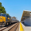 CSX Q491 is seen passing the recently renovated Amtrak station in North Charleston, 2-27-20.