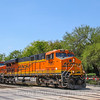 BNSF freight heads North out of San Antonio on a blisteringly hot August afternoon, 8-14-17.