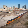 A Southbound grain train is seen pulling into Fort Worth on a picture-perfect Saturday morning, 3-6-21.