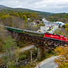 GMRC Foliage Extra at Ludlow Trestle, 10-21-18