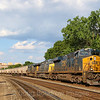 A Southbound grain train is seen passing through Alexandria on a hot summer evening on the former RF&P, 6-30-20.