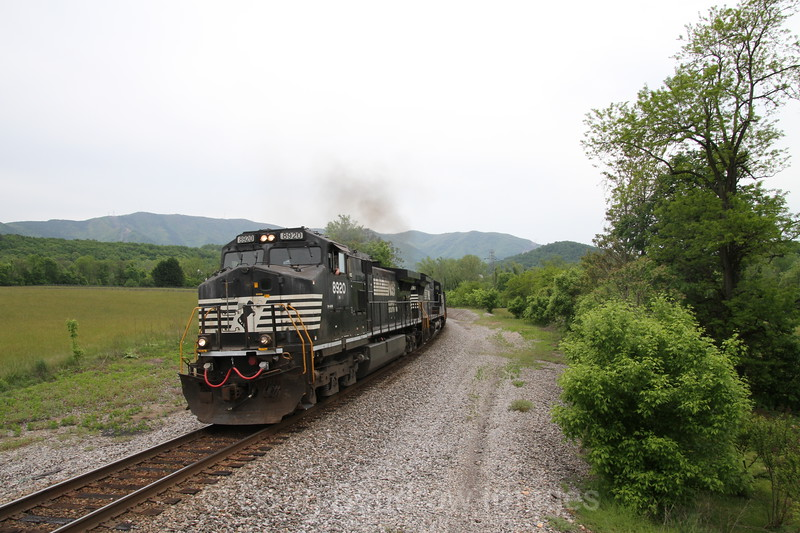 An Eastbound loaded coal drag passes through Riverside on the old Virginian mainline, 5-9-16.