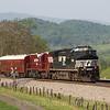The geometry train heads West at John Farm in Shawsville, 5-8-16.