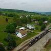 Westbound intermodal at Shawsville, 5-8-16.