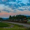 NS train 19M is seen passing West through John Farm in Shawsville on. beautiful Summer evening, 7-3-20.