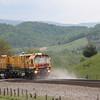 Loram Rail Grinder at Shawsville, 5-6-16.