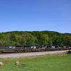 Priority intermodal train 22A is seen passing through the small rural Virginia town of Wabun on a beautiful Summer morning, 7-3-20.