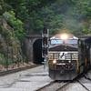 Westbound empty grain train 41N at Montgomery Tunnel, 5-28-17.