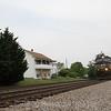 Westbound freight at Shawsville, 5-8-16.