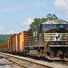 Work train tied down at Fagg, 5-29-17.