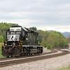 A lite engine heads West through Shawsville, 5-6-16.