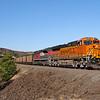 BNSF coal train C-SXMRBG is seen crossing Rowland Lake just East of Bingen along the Columbia River Gorge, 7-15-21.