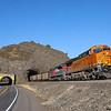 BNSF coal train C-SXMRBG is seen passing through Tunnel 1 near Cook, Washington on the Fallbridge Subdivision along Columbia River Gorge, 7-15-21.