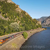 BNSF coal train C-SXMRBG is seen at Home Valley, near the Western end of the Columbia River Gorge, 7-15-21.