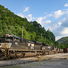 """A coal train is seen loading out on """"Dan's Branch"""" in Eckman,. Deep in the heart of Appalachia, McDowell County is certainly coal country. Although coal production is not nearly as busy as years past, the Pocahontas Division has seen a recent apparent increase in coal traffic, 7-2-20."""