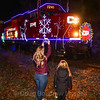 The train makes its usual stop in Mechanicville.  A mother and her daughter are seen excitedly photographing and checking out the train.