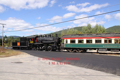#7470, an ex Grand Trunk and ex Canadian National 1921 0-6-0 steam engine runs tender first to Bartlett, 9-18-10