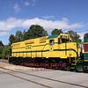 "#252 pulls an ""extended notch train"" bound for Hazens through Bartlett crossing over Bear Notch Road, 9-18-10."